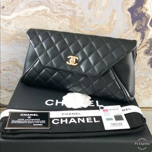 Chanel Fold Up Again Quilted Lambskin Clutch